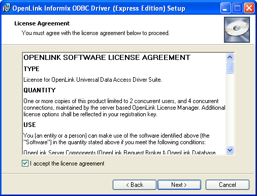 5 2  OpenLink ODBC Driver for Informix (Express Edition) for