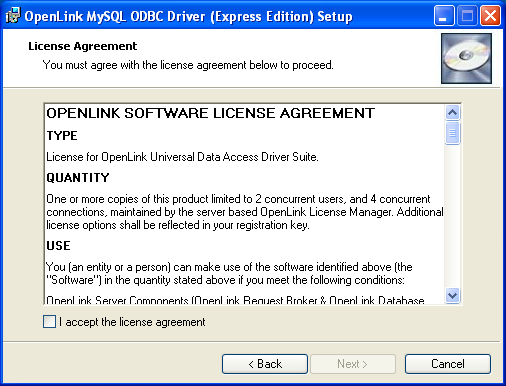 7 2  OpenLink ODBC Driver for MySQL (Express Edition) for Windows