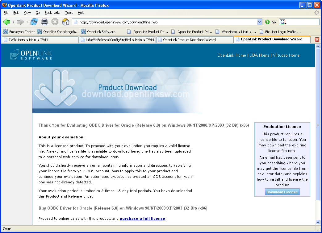 8 2  OpenLink ODBC Driver for Oracle (Express Editon) for Windows