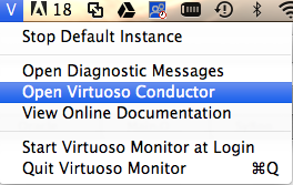 Mac OS X installer: Drag Virtuoso Application