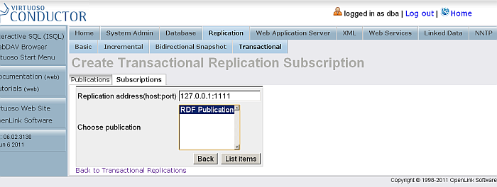 Bi-directional Replication Topology
