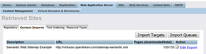 Setting up a Content Crawler Job to Retrieve Semantic Sitemap content
