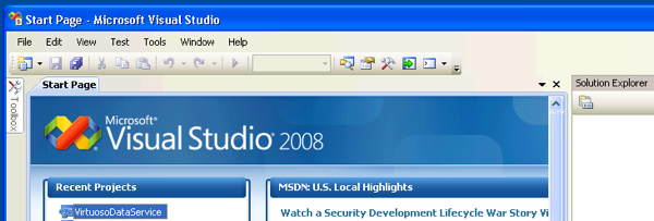 Visual Studio 2008 SP1 IDE