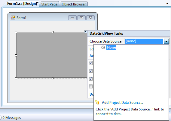 Add Project Data Source