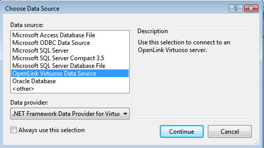 OpenLink Virtuoso Data Source