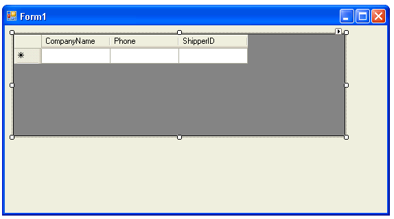 Resize the Form and DataGridView