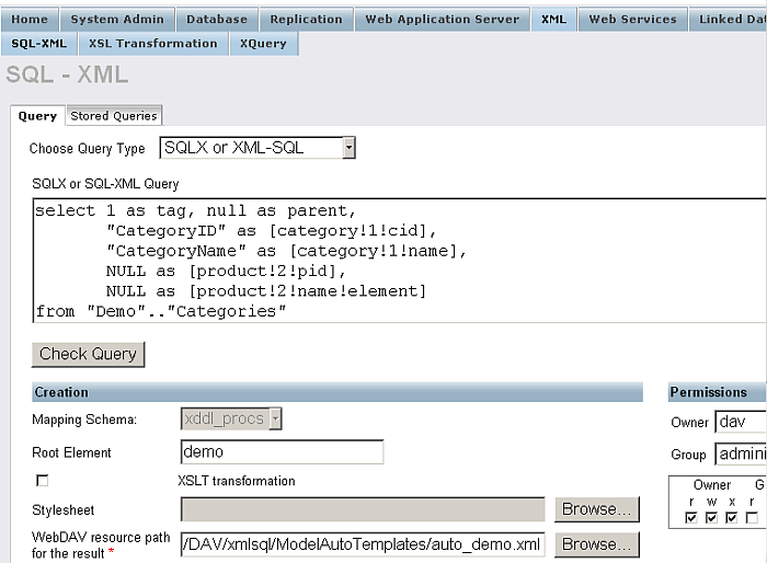 SQL to XML using FOR XML EXPLICIT mode