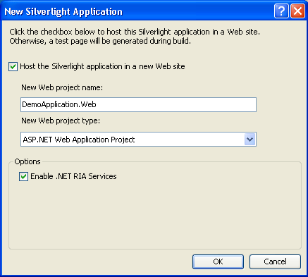 .NET RIA Services Application