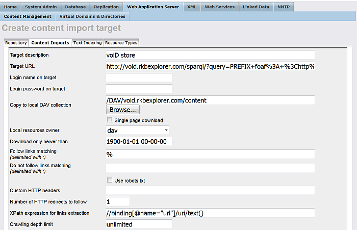 Crawling SPARQL Endpoints