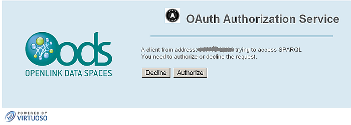 SPARQL OAuth Endpoint