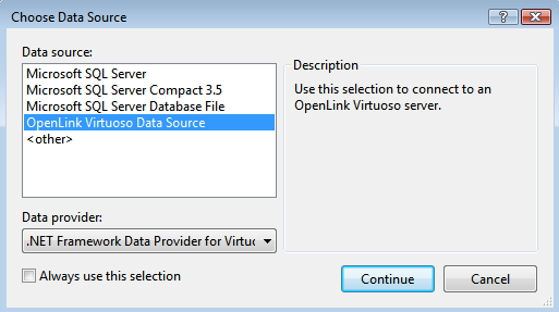 Virtuoso Data Source
