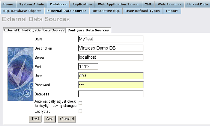 Configuring A Virtuoso ODBC Datasources