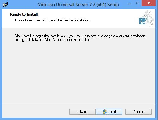 Installing the Virtuoso Universal Server on Windows -- Read to install