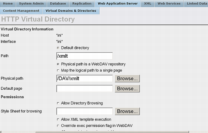Configuring a Virtual Directory to respond to XML Template requests from our Dav