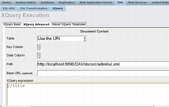 XPATH query on a file in WebDAV